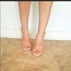 NEW - Women's Clear Sandals Heels